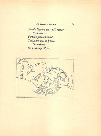 Aristide Maillol, 'Livret de folastries', 1938