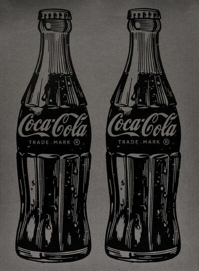 Cey Adams, 'Double Coca-Cola (black on silver)', 2017