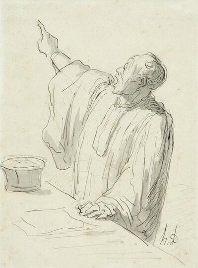Honoré Daumier, 'Un Avocat Plaidant'