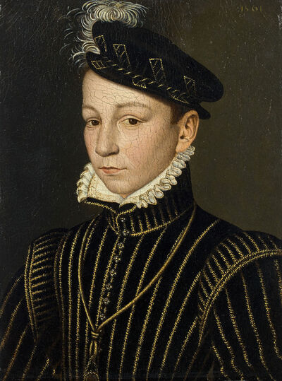 François Clouet, 'Portrait of Charles IX', 16th century french master