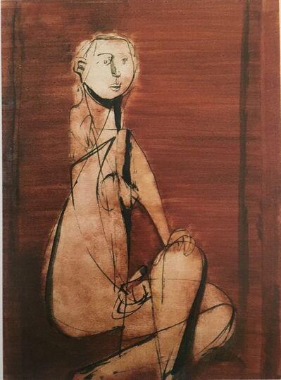 Jankel Adler, 'Seated Nude', 1943