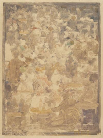 Maurice Brazil Prendergast, 'Outdoor Cafe Scene', 1900/1905