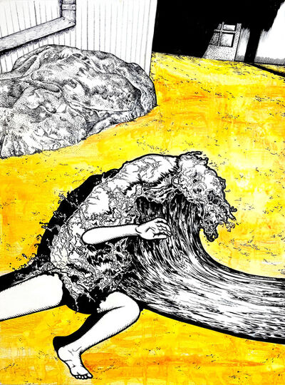 Jiyoun LEE-LODGE, 'Waterman - Falling 1', 2020