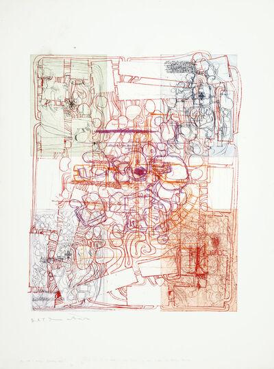 """Hermann Nitsch, 'Untitled (Variation Entwurf zu einem Gralstempel), Aus der Serie """"Die Architektur des O. M. Theaters"""" Mappe III', 1985-1990"""