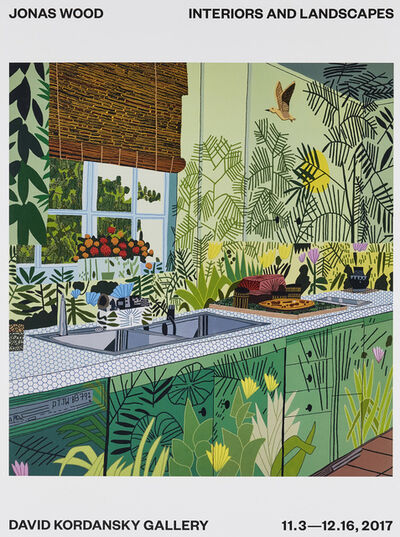 Jonas Wood, 'Interiors and Landscapes Exhibition Poster', 2017