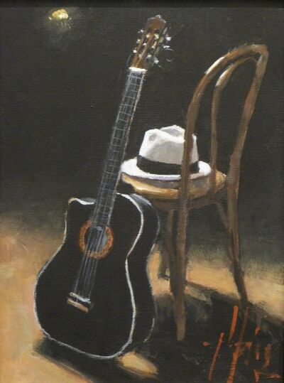 Fabian Perez, 'Study for Hat and Guitar II', 2010-2016