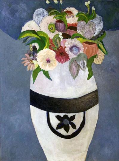 Kathleen Sidwell, 'White Vase, White Flowers', 2018