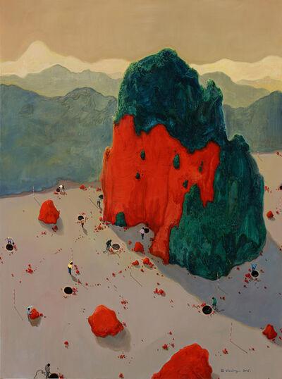 Zhou Jinhua 周金华, 'Red Mountain 红山 No.1', 2016