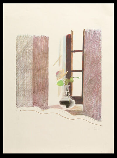 David Hockney, 'Le Nid du Duc, Original Signed, Dated, and Annotated Period Lithographic Print', 1971