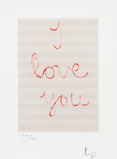 Louise Bourgeois, 'I Love You', 2007