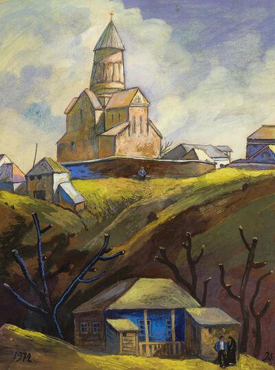 Elene Akhvlediani, 'Landscape with Church', 1972