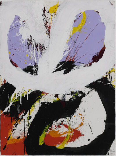 Norman Bluhm, 'Lavender, Red, White, Black', 1967