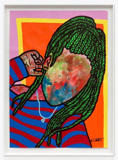 Ajarb Bernard Ategwa, 'With my new IPhone', 2020