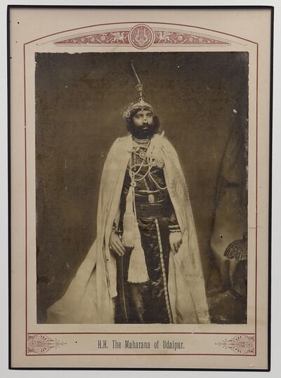 Raja Deen Dayal, 'The Maharana of Udaipur', ca. 1890