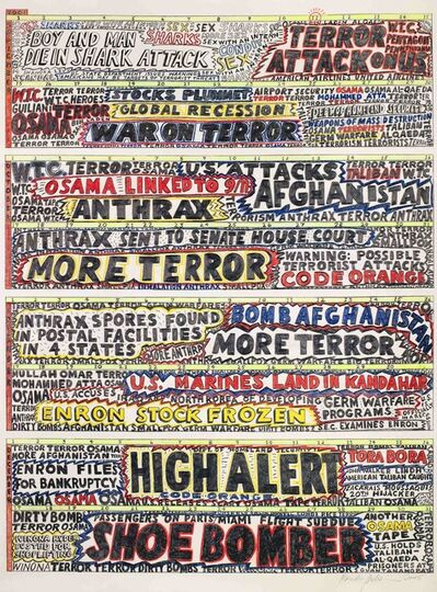 Paula Scher, 'Shock and Awe', 2005