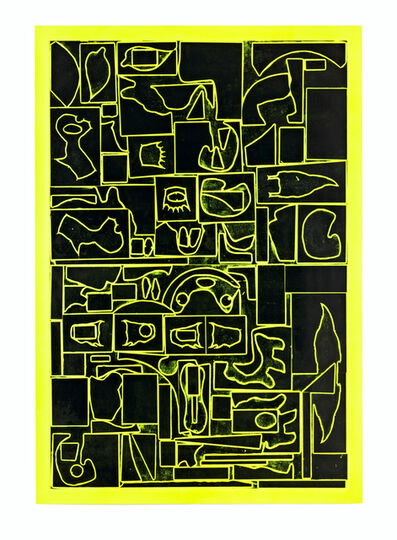 Shinro Ohtake, 'Found Shapes on Yellow', 2015