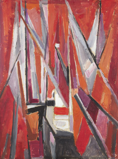 Mildred Bendall, 'Red Sails', ca. 1955
