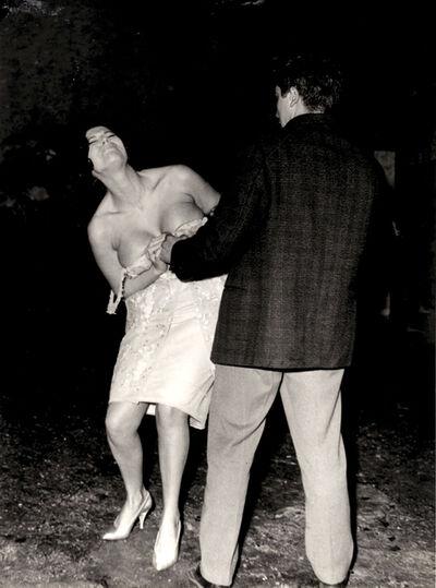 Marcello Geppetti, 'Starlet Nadia Par improvising a strip at Villa Borghese', 1960