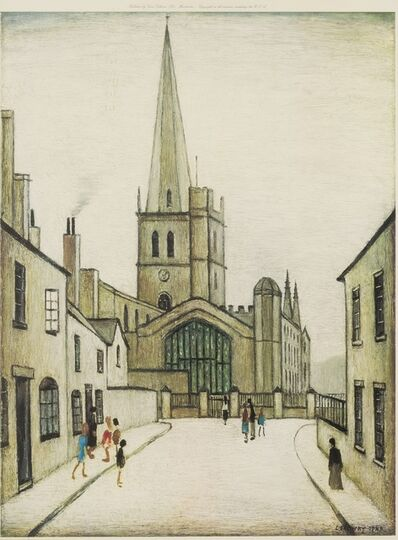 Laurence Stephen Lowry, 'Burford Church'