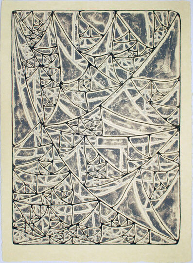 James Siena, 'Sagging Infected Triangular Grid', 2011
