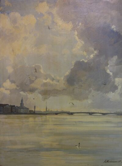 Petr Petrovich Litvinsky, 'Morning in Neva River', 1991