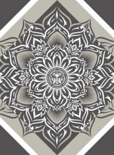 Shepard Fairey, 'Lotus Diamond Silver', 2012