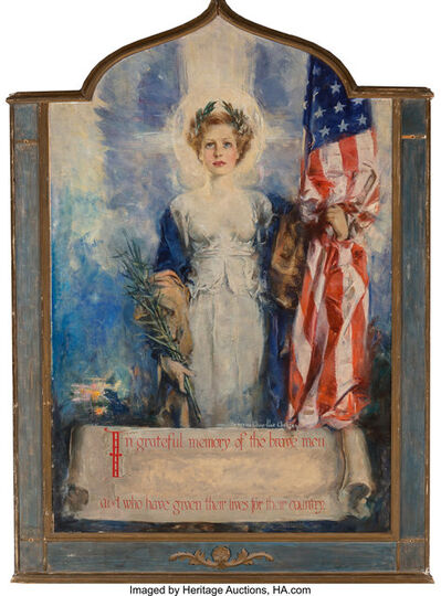 Howard Chandler Christy, 'In Grateful Memory of the Brave Men Who Have Given Lives for their Country'