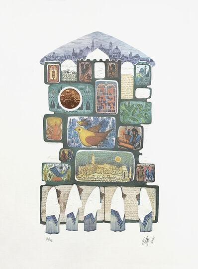 Amram Ebgi, 'TAFILAH AT THE WALL (JUDAICA ART)', ca. 1990