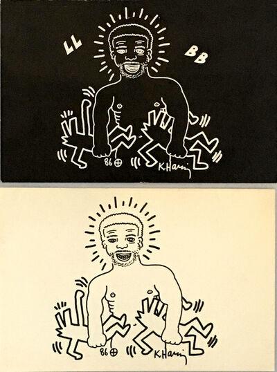 Keith Haring, 'Keith Haring Paradise Garage 1986 (Keith Haring, Larry Levan)', 1986