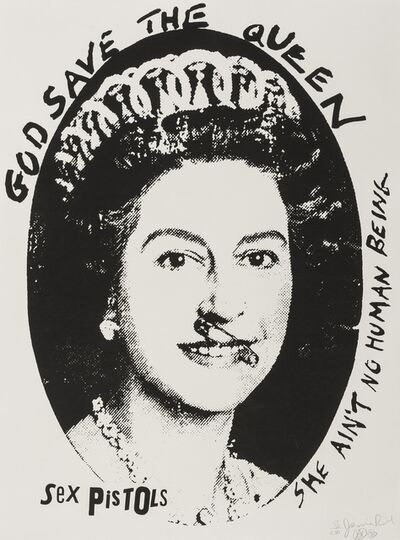 Jamie Reid, 'God Save the Queen', 1997
