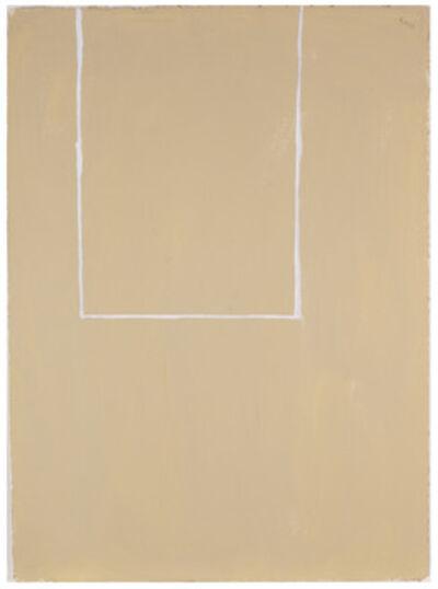 Robert Motherwell, 'Open Study (White Lines on Beige #2)', 1968
