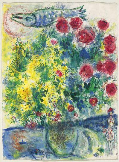 Marc Chagall, 'Roses et mimosas (Nice et la Côte d'Azur)', 1960