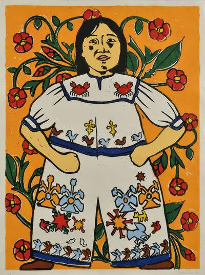 Nobuaki Takekawa, 'Camellia Flower & Ethnic Costume', 2020