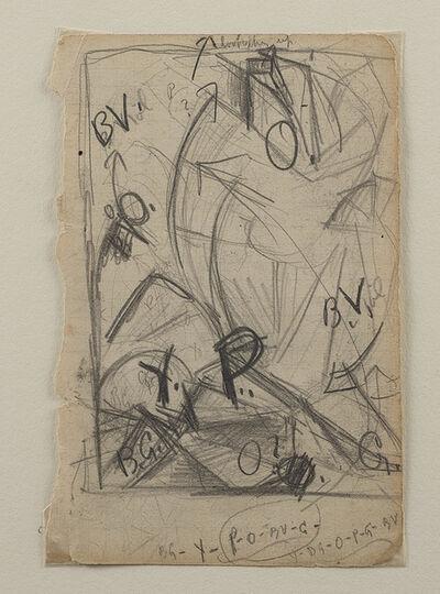 Morgan Russell, 'Etude pour une composition synchroniste (recto), Etude (verso)'