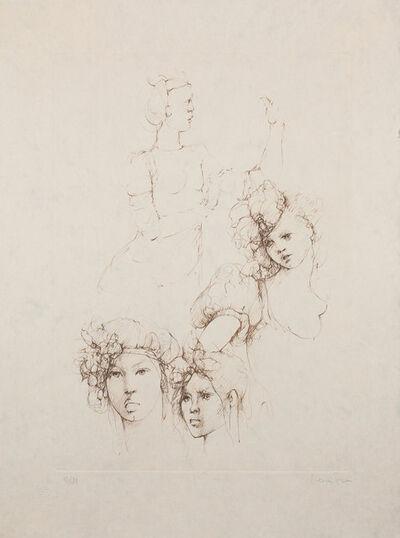 Leonor Fini, 'Les Elus de la nuit (7A)', 1986