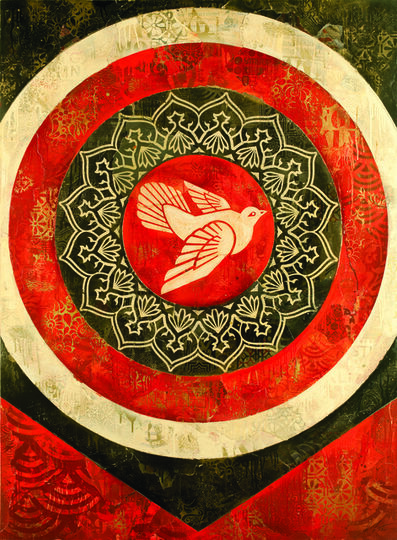 Shepard Fairey, 'Peace Dove (Red)', 2012
