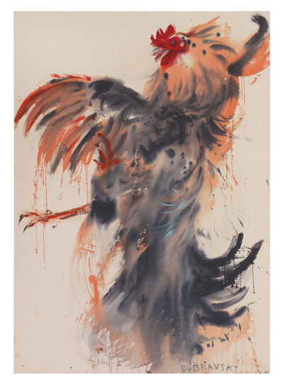 Andrej Dubravsky, 'Orange rooster', 2017