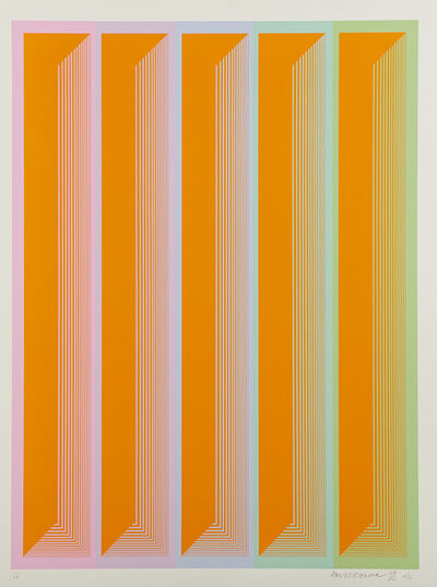 Richard Anuszkiewicz, 'Plates IV, V, VII, IX from the Sequential  portfolio', 1972