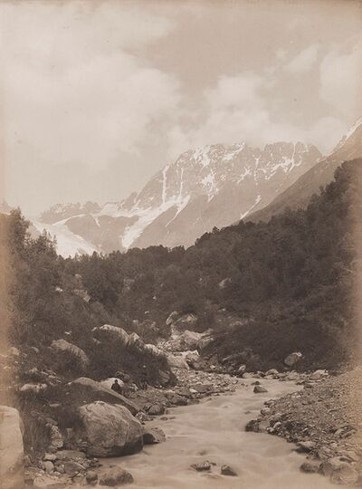 Vittorio Sella, 'Mountain Koruldu from the Zena valley', 1906