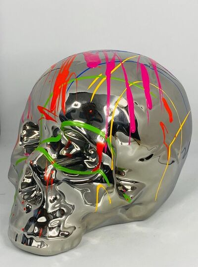 EB Studios, 'Silver Skull Table Top', 2020