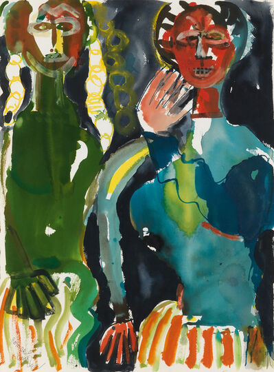Romare Bearden, 'Obeah Woman with her daughter (La Sorcière avec sa fille)', circa 1984