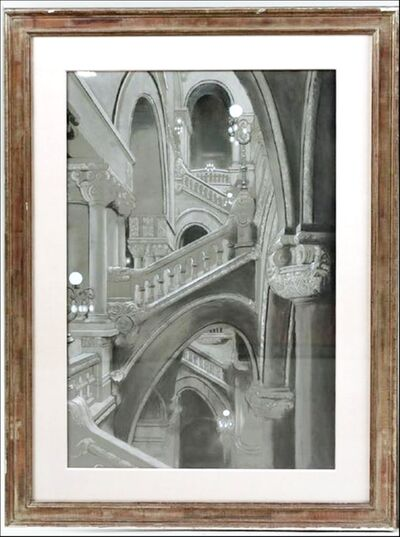 Richard Haas, 'Great Western Staircase, New York State Capitol Building, Albany (from Readers Digest Association Art Collection) ', 1980