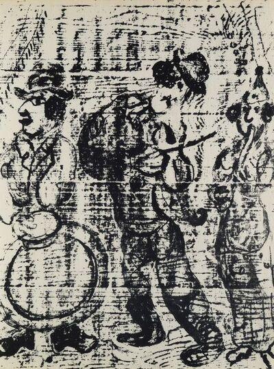 Marc Chagall, 'Les Musiciens Vagabonds'