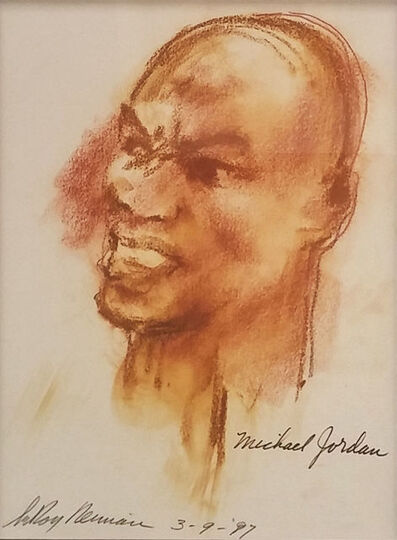 LeRoy Neiman, 'MICHAEL JORDAN', 1987