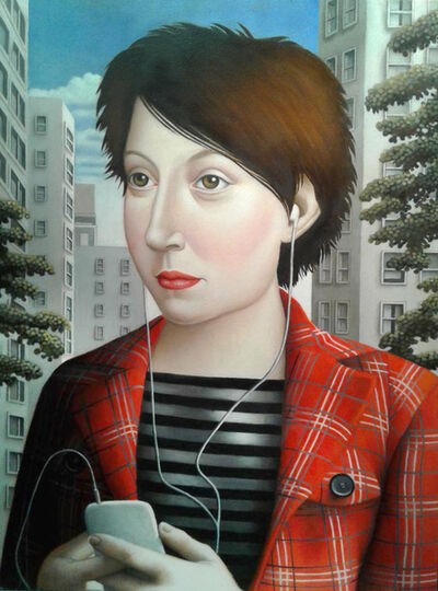 Amy Hill, 'Woman with Iphone'