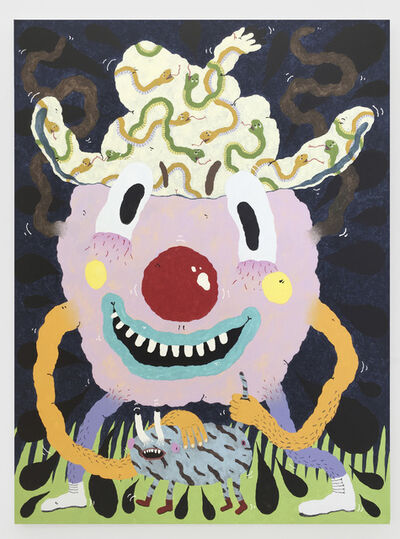 Joakim Ojanen, 'Pink Berry With Confidence (And Pet)', 2019