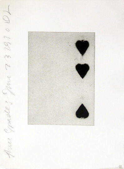 Donald Sultan, 'Playing Cards (Three of Spades)', 1990