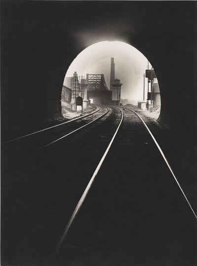 François Kollar, 'Bouche du tunnel Sainte-Catherine, vers Sotteville-lés-Rouen, Rouen', 1931-1932