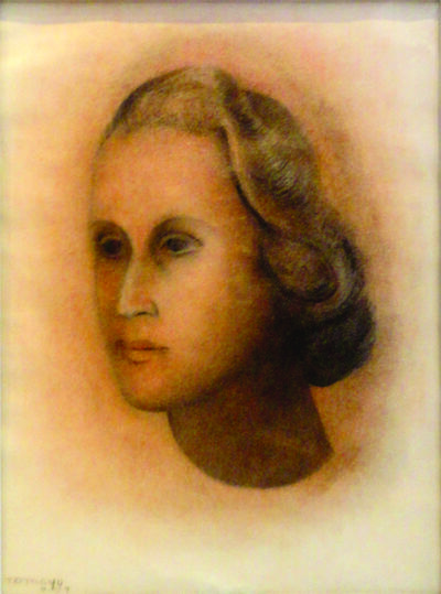 "Rufino Tamayo, '""Retrato de mujer""', 1957"