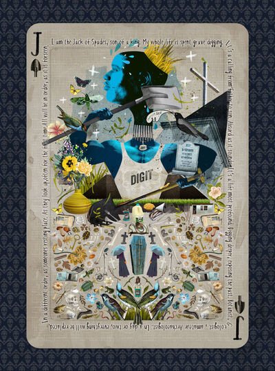 Caitlin Truman - Baker, 'jack of spades - grave digger', 2016